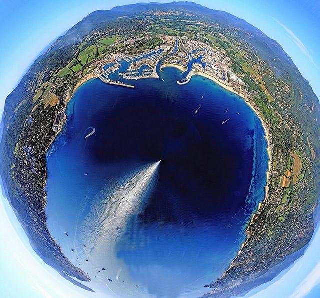 Saint-Tropez peninsula aerial view