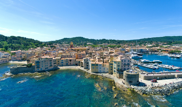 The neighborhoods of Saint-Tropez